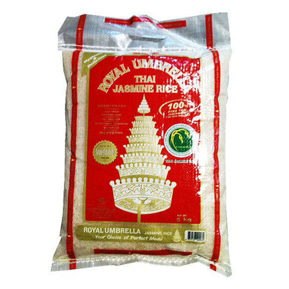 Thai hom mali (fragrant) jasmine rice (5kg) by Royal Umbrella