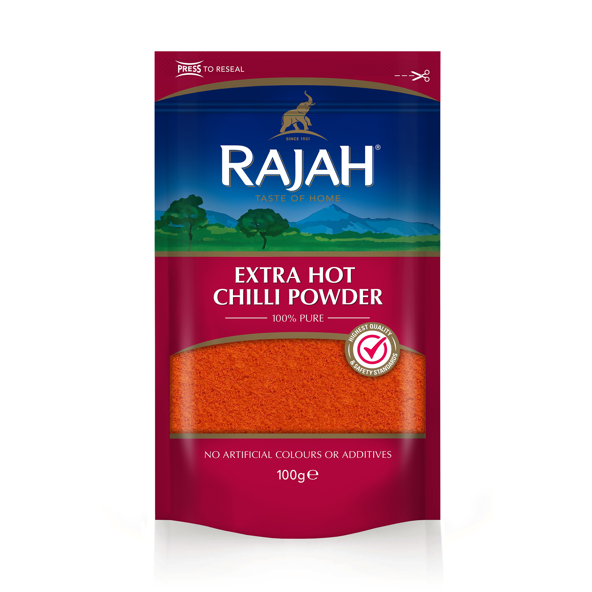 Extra Hot Chilli Powder 100g by Rajah