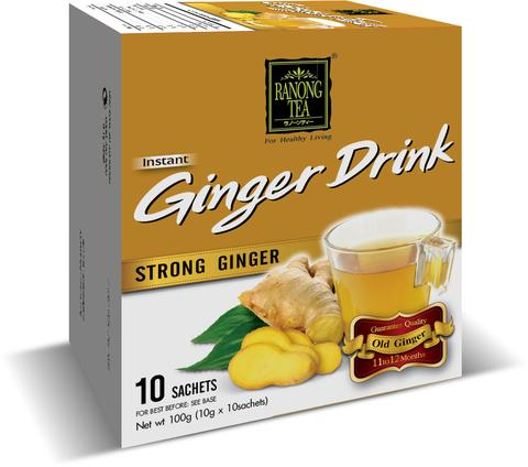 Xtra Mature Ginger Drink - Strong Ginger 10 x 10g Sachets 100g by Ranong Tea