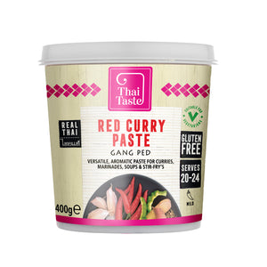 Thai red curry paste (gang ped) 400g by Thai Taste