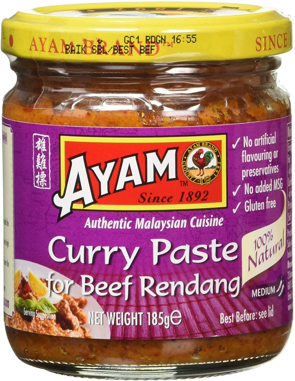 Rendang Curry Paste 185g by Ayam