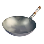 London Wok Round Bottom Carbon Steel Wok 13inch by Hancock
