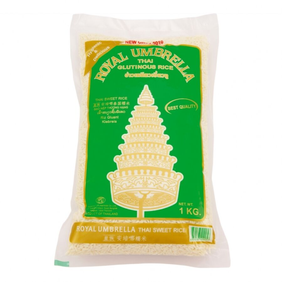 Thai sticky  rice  (glutinous) 1kg by Royal Umbrella