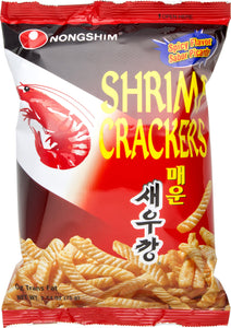 Hot and Spicy Shrimp Crackers 75g by Nongshim