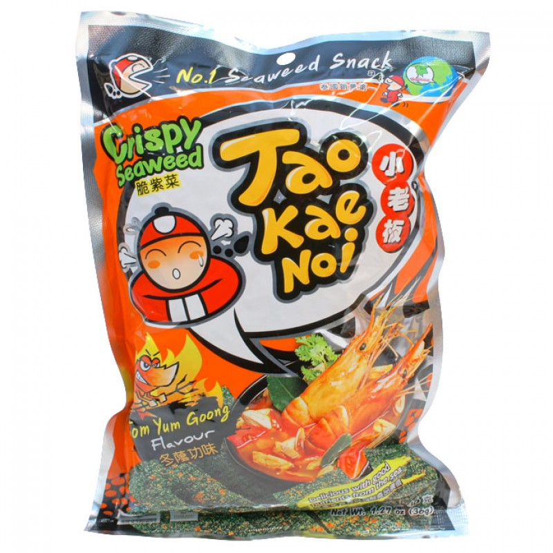 *REDUCED* Thai crispy seaweed tom yum goong (36g) by Tao Kae Noi