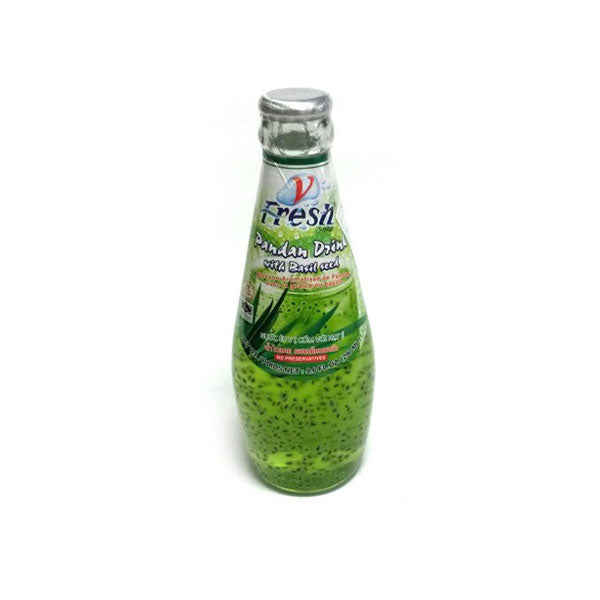 Thai Pandan Drink with Basil Seed 290ml by V-Fresh