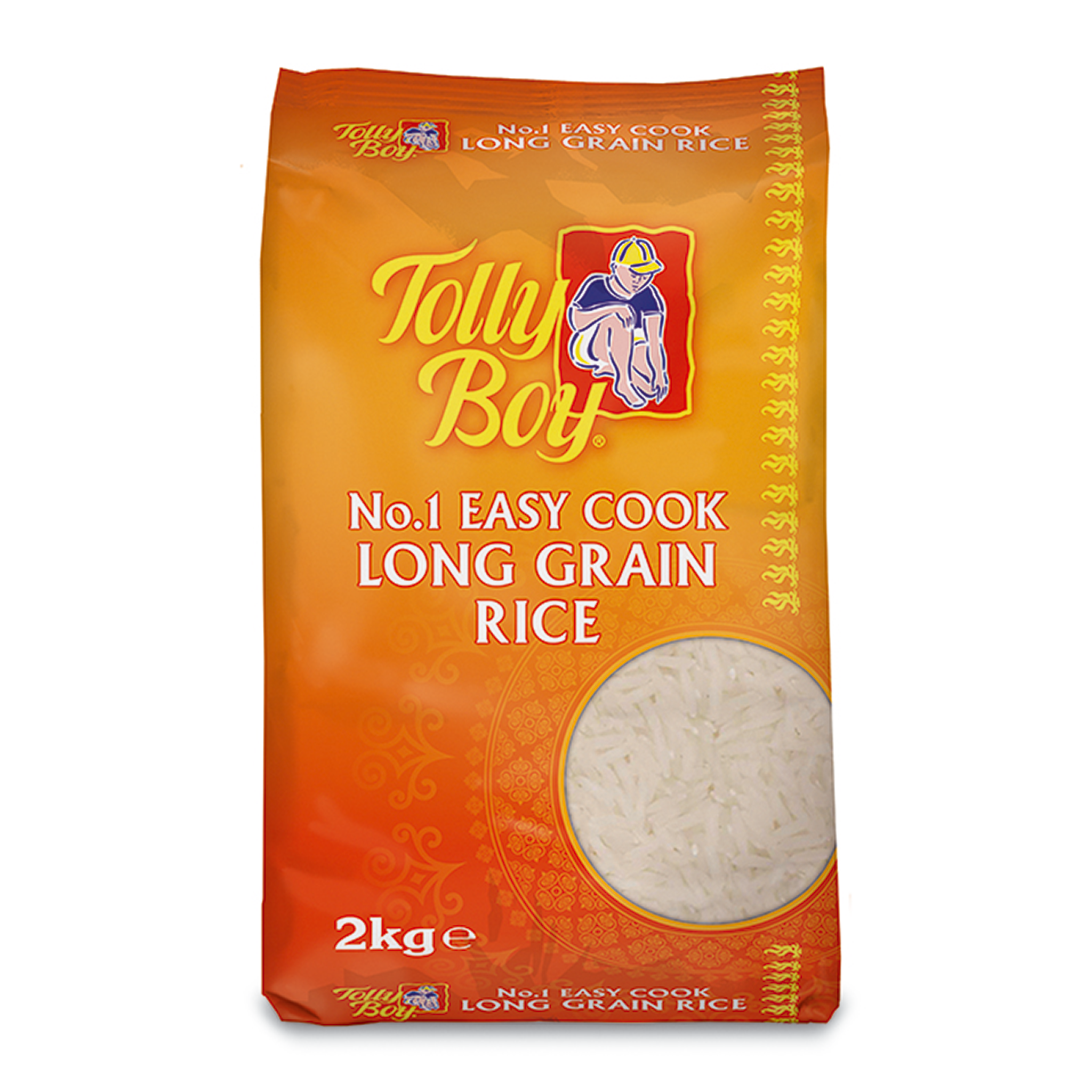 Easy Cook Long Grain White Rice 2kg by Tolly Boy