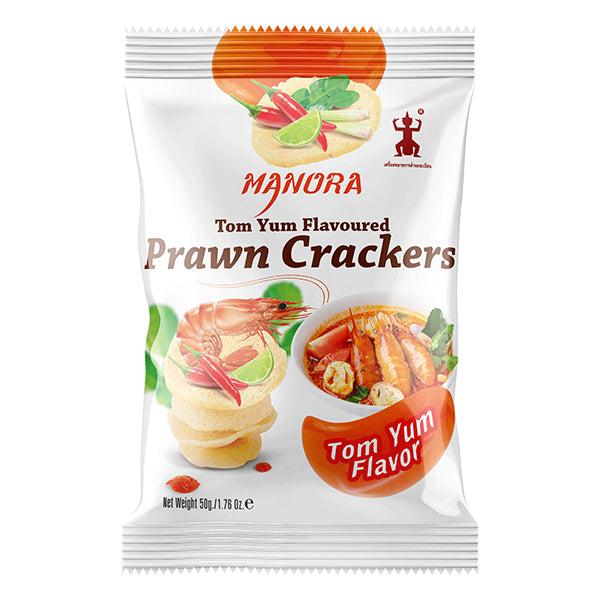 Tom Yum Flavoured Prawn Crackers 50g by Manora