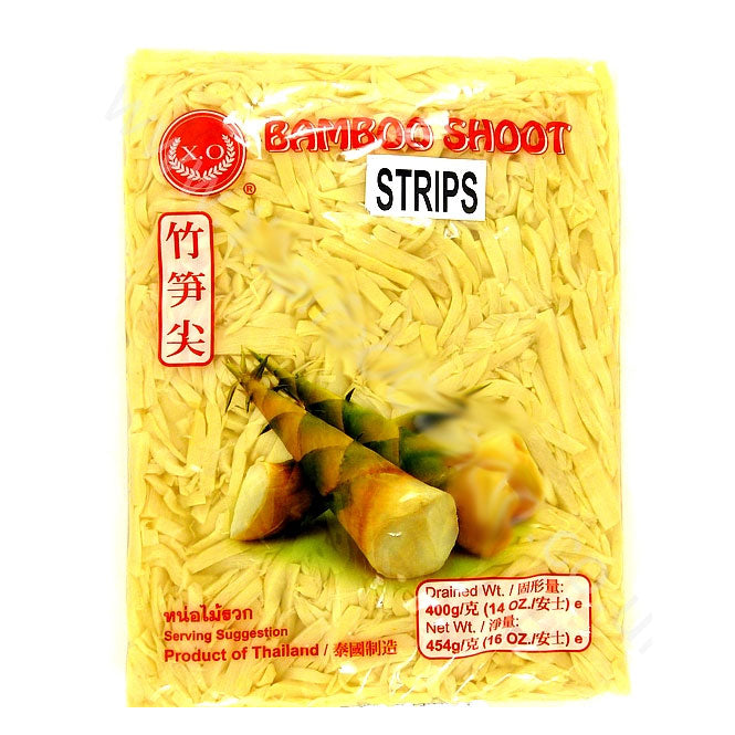 Thai Bamboo Shoot Strips (vacuum pack) 454g by XO