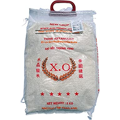 Thai white sticky rice (glutinous) 10kg by XO