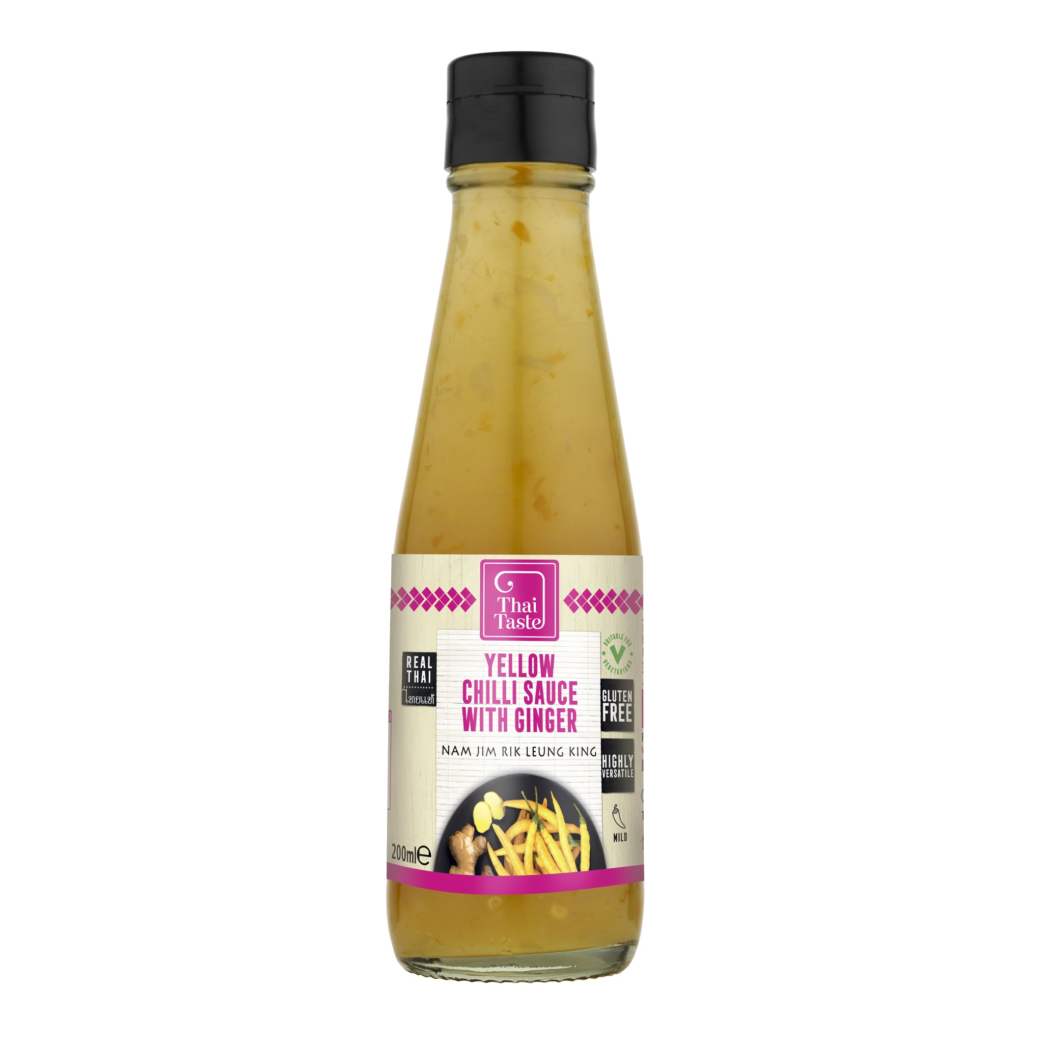 Yellow Chilli Sauce with Ginger (Nam Jim Rik Leung King) 200ml by Thai Taste