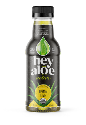 Hey Aloe Active Lemon Lime: 6-pack