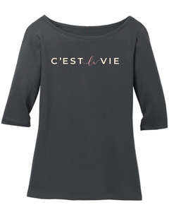 C'est La Vie (Such is Life) Gray