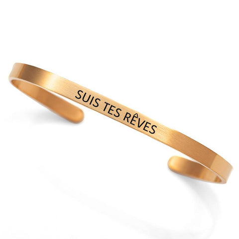 """Suis tes rêves"" cuff - Follow your dreams"