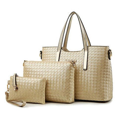 Leather Zipper Versatile Handbags