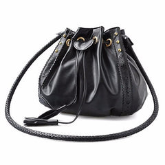 Brown Leather Lady Handbag