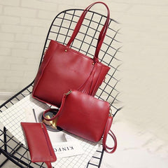 Xiniu 3PCS women bag summer 2017 Tassels leather woman bag cross body messenger Shoulder Bag #6M