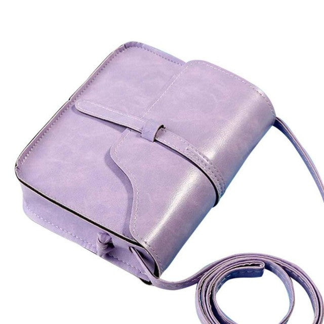 Office Lady Leather Cross Body Bags