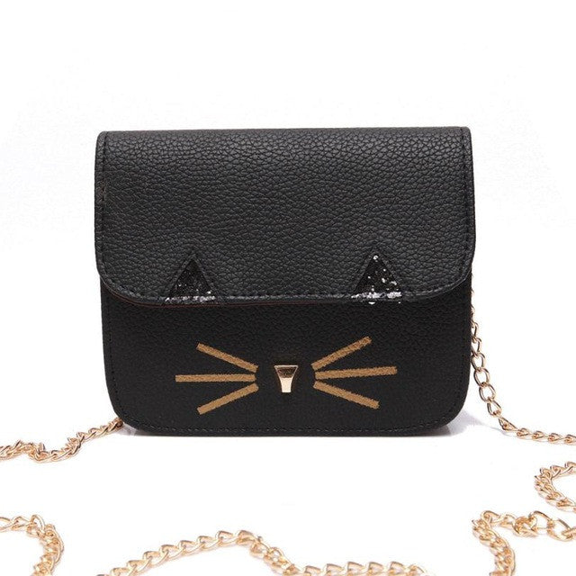 Cat Print Shoulder Bag