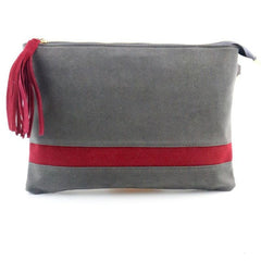 Grey Bag with red Stripe