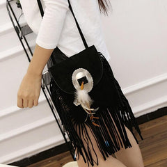 Black Stripes cross body
