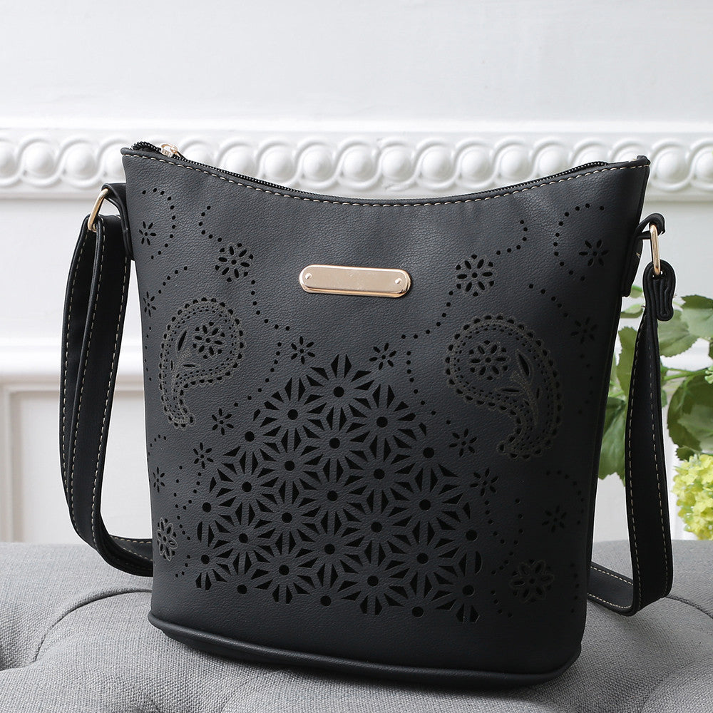 High quality Satchel Hollow Out Shoulder Bag