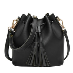 Leather Drawstring crossbody bags