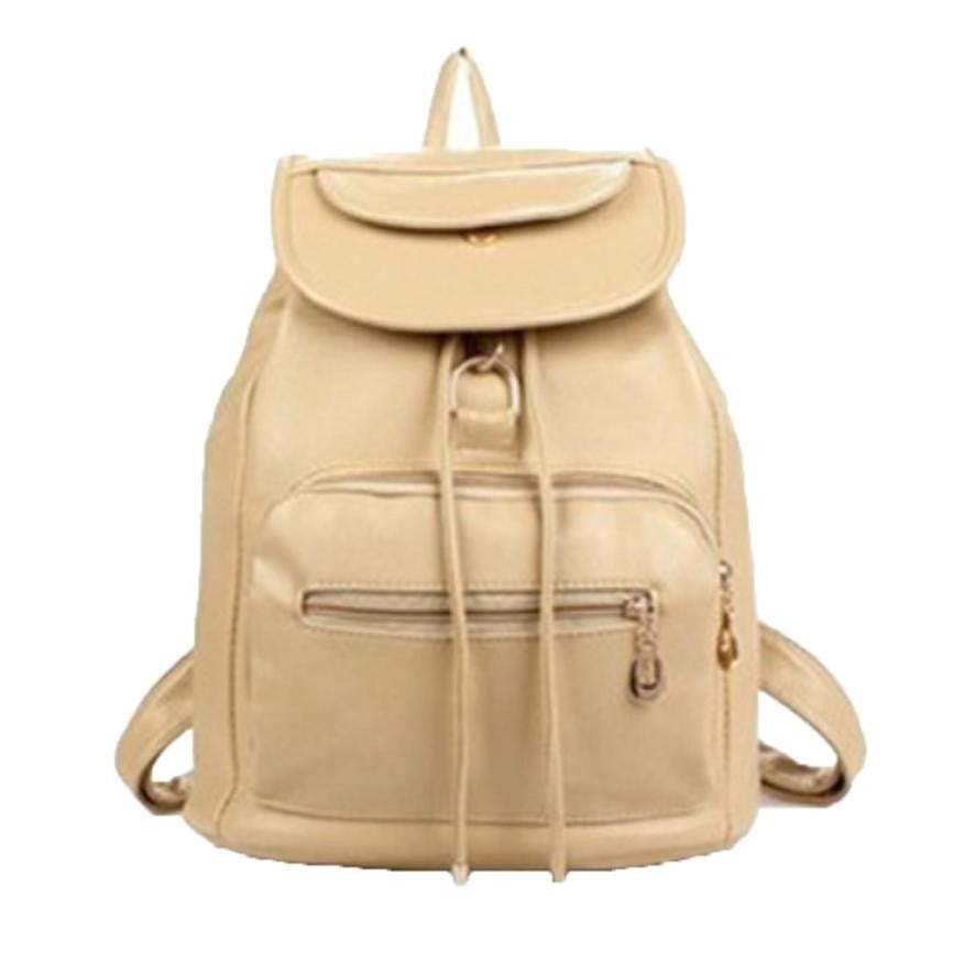 2016 Women Backpack Bags Rucksack Women's Backpack Travel Leather bag Women Shoulder School Bag mochila feminina #YW