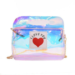 Love Jelly Day Glitter Leather Bag