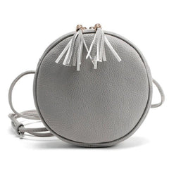 Round Leather England Style Shoulder Bag
