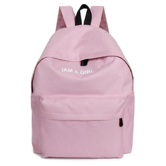 Girls Canvas School Backpack