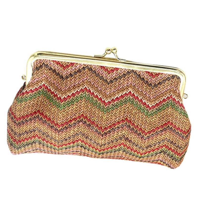 Knitting Rainbow Pattern Bag