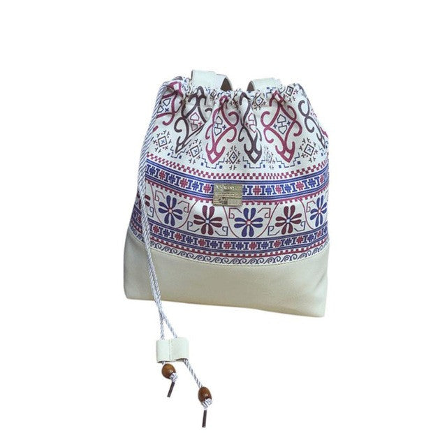Retro Drawind Bags shoulder Bag