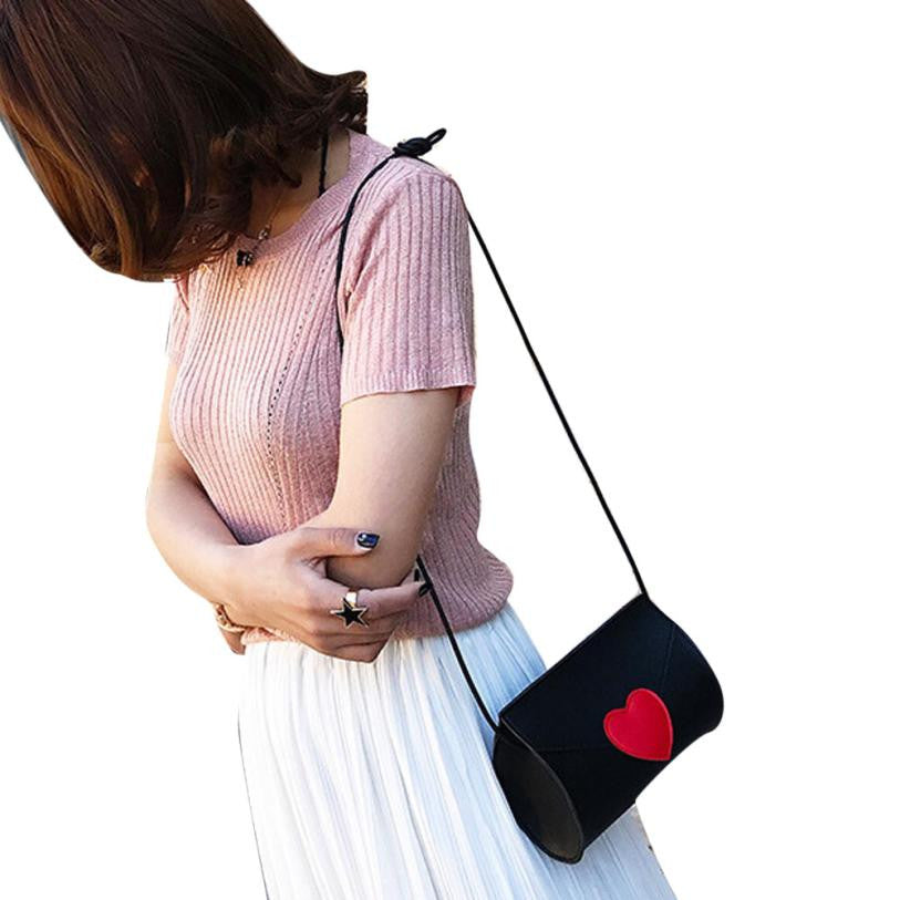 Black Bag with Red Heart