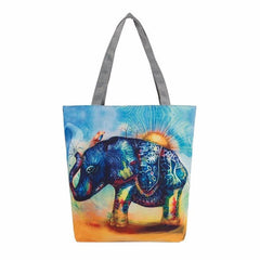 Elephant Printing Canvas Bag