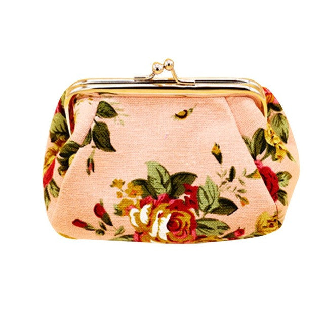Retro Vintage Flower Small Wallet