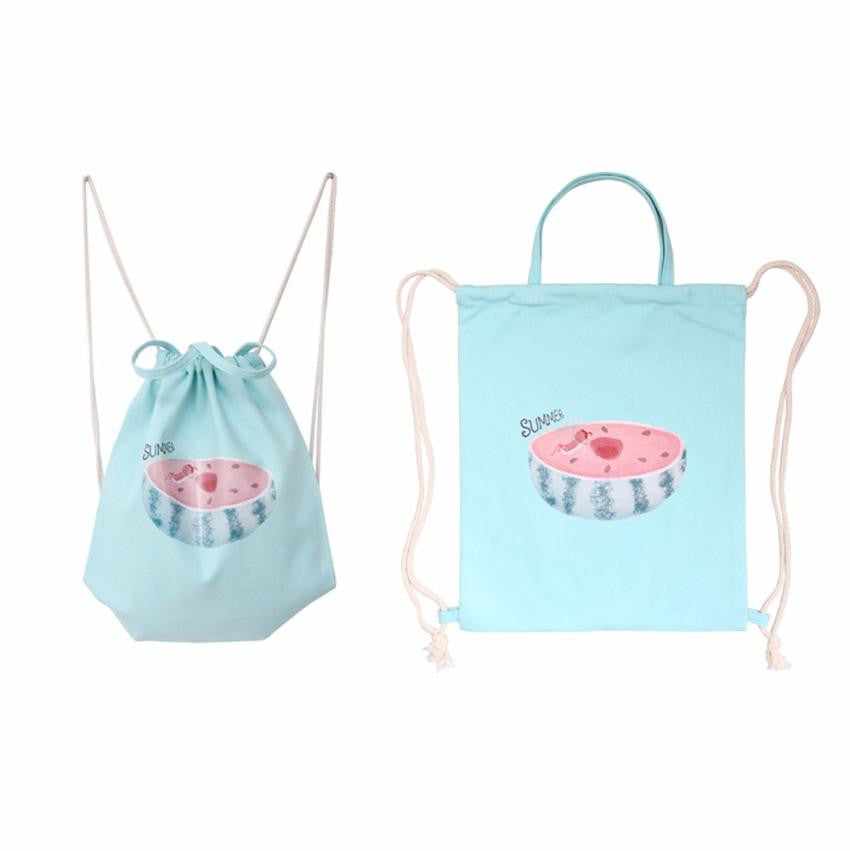 Watermelon Drawstring Backpack