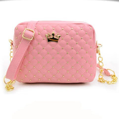 Ladies Rivet Chain Leather Bag