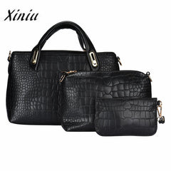 3pcs/Set Top-Handle Shoulder Bag