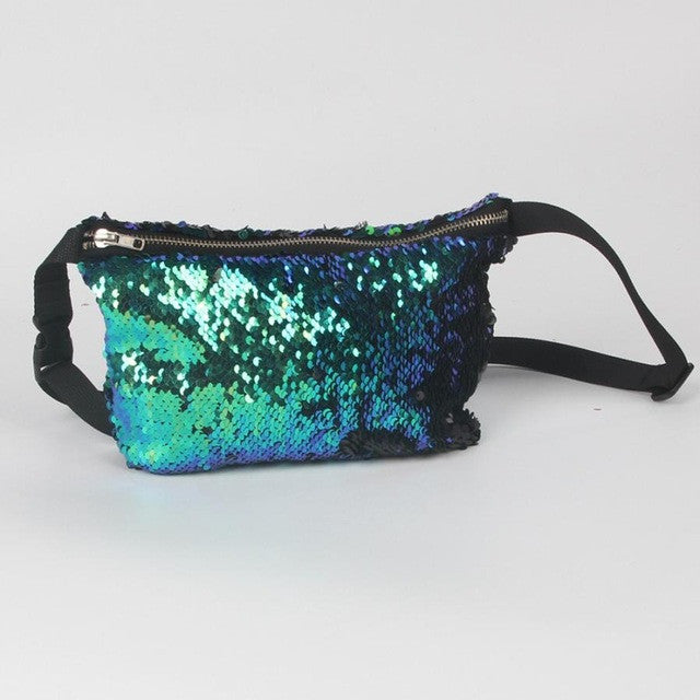 Double Color Sequins Chest Bag