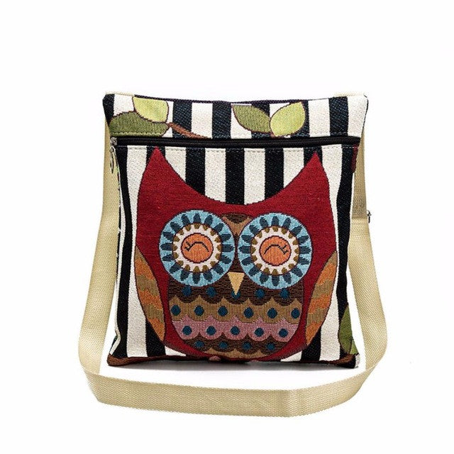 Animal embroidery handbags