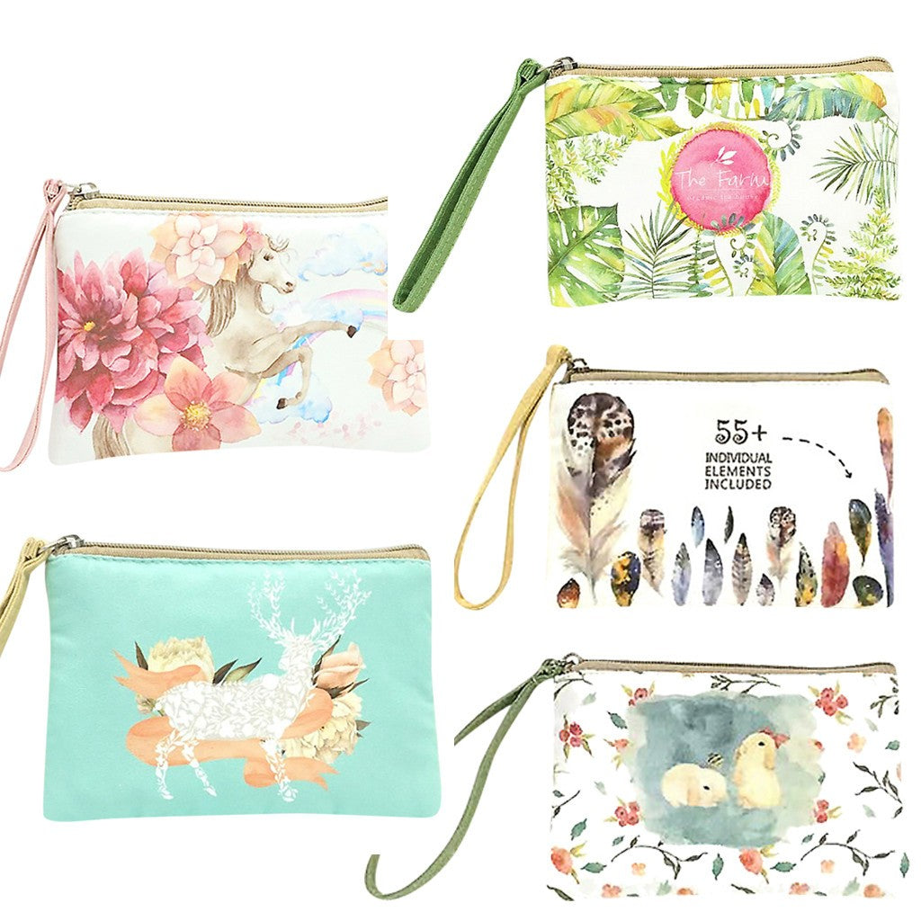 Cute Canvas Cash Purse