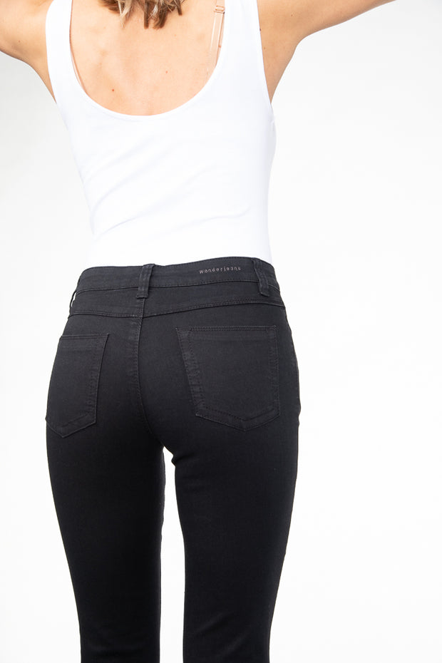 wonderjeans skinny black jeans WS80200 back view