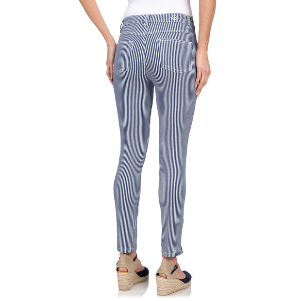 wonderjeans Ankle Stone Blue White Stripe