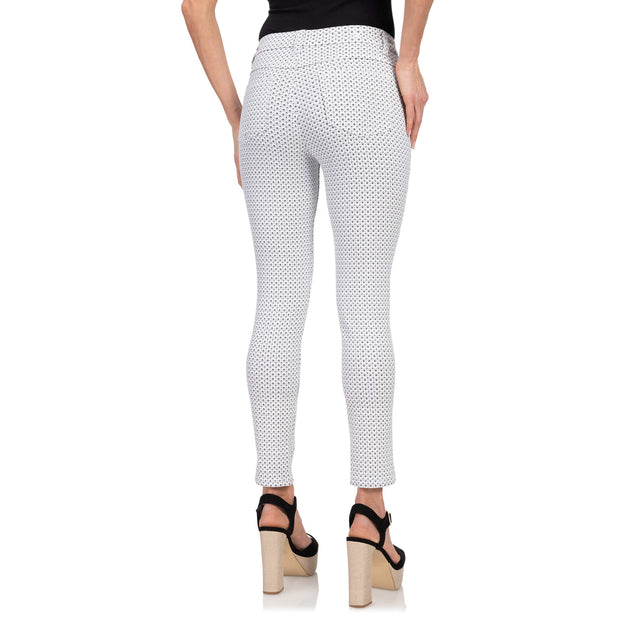 wonderjeans Ankle White Dark Grey Diamond Print