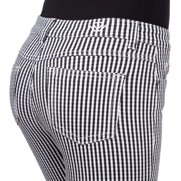 wonderjeans Ankle Black White Vichy Check