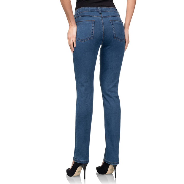 wonderjeans regular super stone blue jeans WC82322 back view