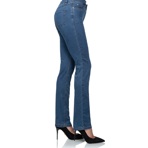 wonderjeans regular super stone blue jeans WC82322 shaping jeans pocket detal close up