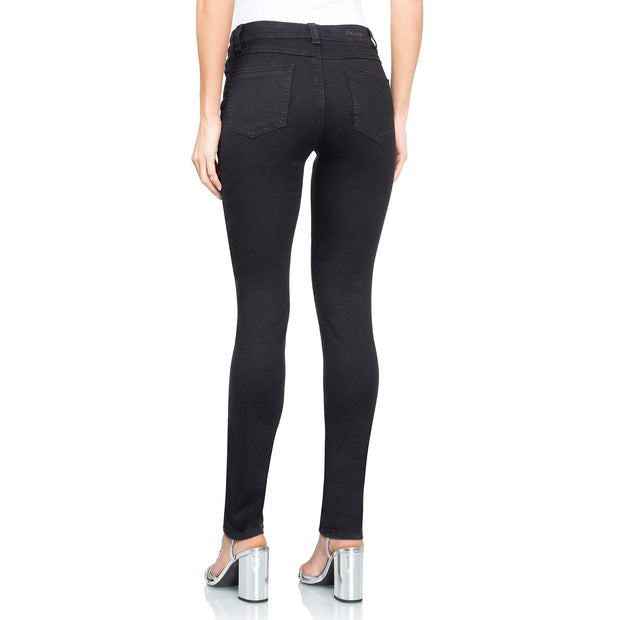 wonderjeans skinny black jeans WS80200 back view 2