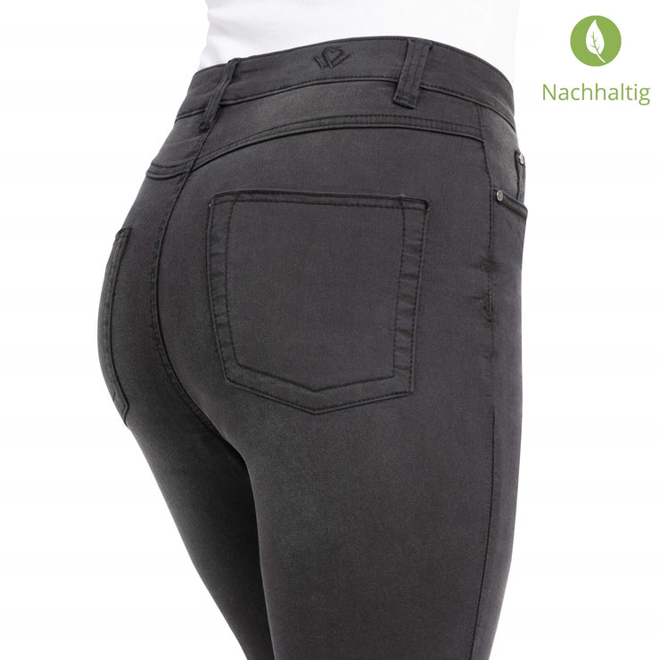 wonderjeans High Waist Charcoal Super Wash